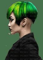 Woman Black Green Yellow  - Bogusia