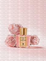 image fleurs bouteille de parfum