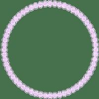 pink pearls frame circle