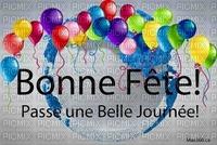 image encre couleur effet bonne journée fête ballons cadre bon anniversaire  edited by me