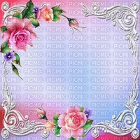 fond-background-decoration--encre-tube_cadre floral-pink-rose- blue-image__Blue DREAM 70