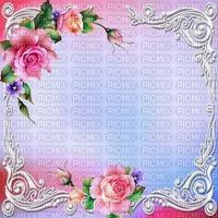fond-background-decoration--encre-tube_cadre floral-pink-rose- blue-image__Blue DREAM 70