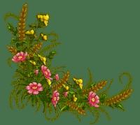 flower border deco fleur coin