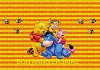 image encre color effet anniversaire abeilles rayures Pooh Eeyore Tiger  Disney edited by me