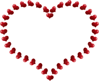 red hearts deco