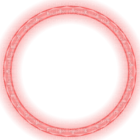 red glowing christmas circle frame