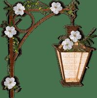 lantern with white flowers deco