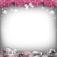soave frame christmas ball branch black white pink