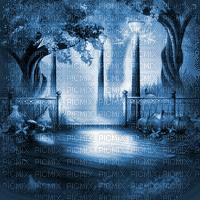 autumn bg forest BLUE automne foret bleu