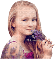 enfant fillette lavande  child girl lavender