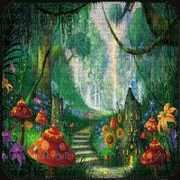 fantasy forest bg fantaisie foret fond