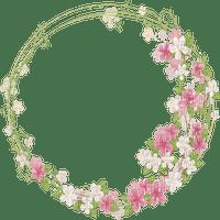 cadre cercle pink fleur frame flowers circle