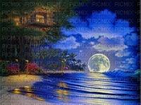 lune bleu