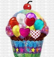 image encre gâteau pâtisserie bon anniversaire ballons coeur edited by me