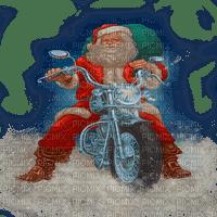 santa claus motocycle