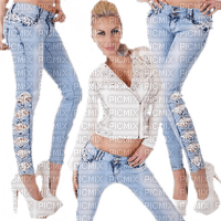 woman jeans fashion