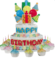 Kaz_Creations Deco Happy Birthday Cake