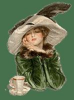Dame, Frau, woman, vintage