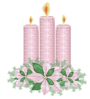 Kaz_Creations Deco Candles Flowers Pink