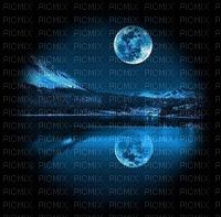 lake moon lune night nuit lac paysage      fond background