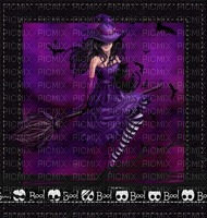 image encre effet femme néon Halloween rayures chapeau  edited by me