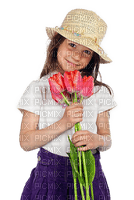 Fille.Girl.Niña.child.enfant.menina.ragazza.Tulipes.Tulips.Chapeau.Hat.Victoriabea