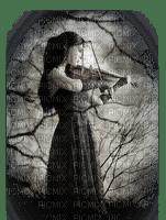 femme gothique  violin woman goth