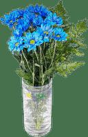 Blue flower.Vase.Pot.Fleur.Bouquet.Victoriabea
