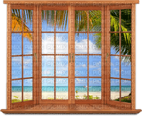 room raum espace chambre  habitación zimmer window fenster fenêtre  spring summer  ete printemps  sea mer meer beach plage strand palm palmen leaf water  paysage  fond