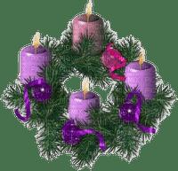 wreath advent kranz couronne candle kerzen bougie  branch deco  zweige branches  fir tanne sapin     christmas noel xmas weihnachten Navidad рождество natal tube purple