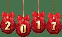 2017 red christmas balls
