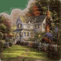 landscape, house