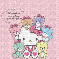 Fond hello kitty background bear ours