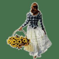 femme tournesol woman with sunflower basket