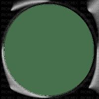 Black Beveled Circle Frame