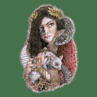 kikkapink woman fantasy gothic snake mouse rat
