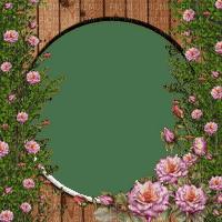 spring frame wooden roses cadre printemps en bois roses