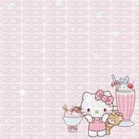 Glace fond hello kitty background icecream
