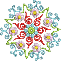mandala deco circle tube flower fleur spring printemps