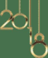 2018 text gold
