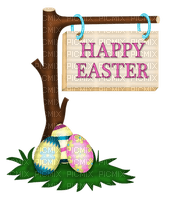 happy easter text tree deco eggs pâques arbre