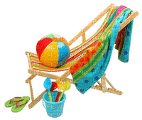 beach chair towel deco