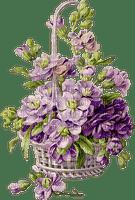 basket with lavender, violet flowers, sunshine3