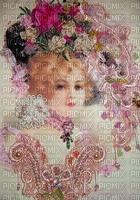 image encre couleur femme visage chapeau mode charme texture fleurs edited by me