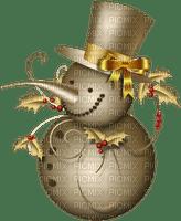 snowman gold bonhomme de neige