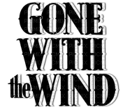 GONE WITH THE WIND TEXT MOVIE LOGO