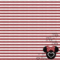 image encre couleur  anniversaire effet rayures Minnie Disney  edited by me