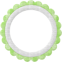 spring printemps cadre frame rahmen circle green blanc tube
