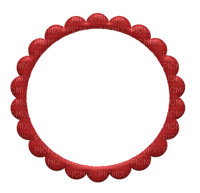 Kaz_Creations Red Scrap Frames Frame Circle