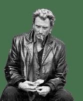 Johnny décontracté fumant sa clope